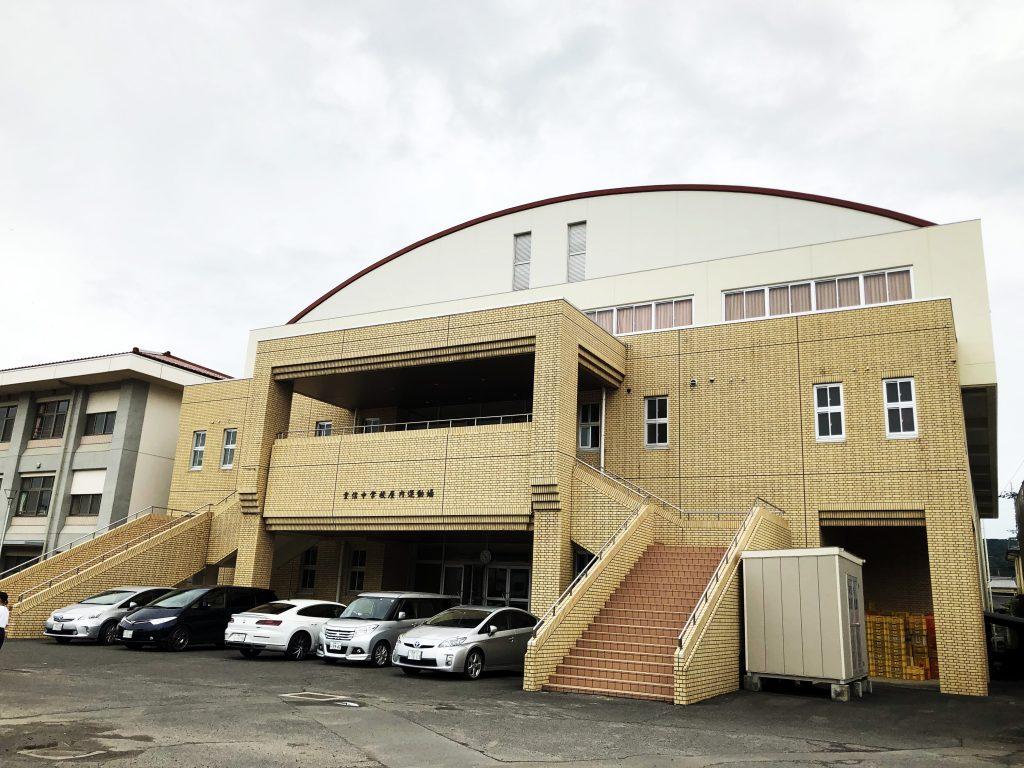 重信中学校体育館大規模改修衛生設備工事(2017年3月竣工)